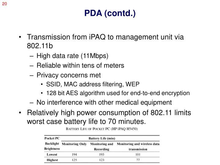PDA (contd.)