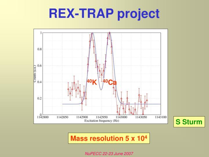 REX-TRAP project
