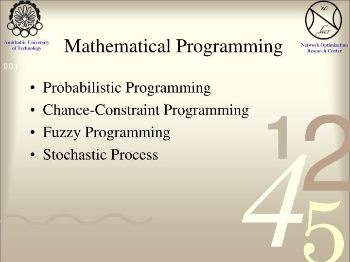 Mathematical Programming