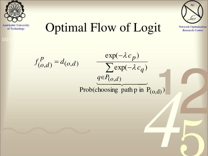 Optimal Flow of Logit