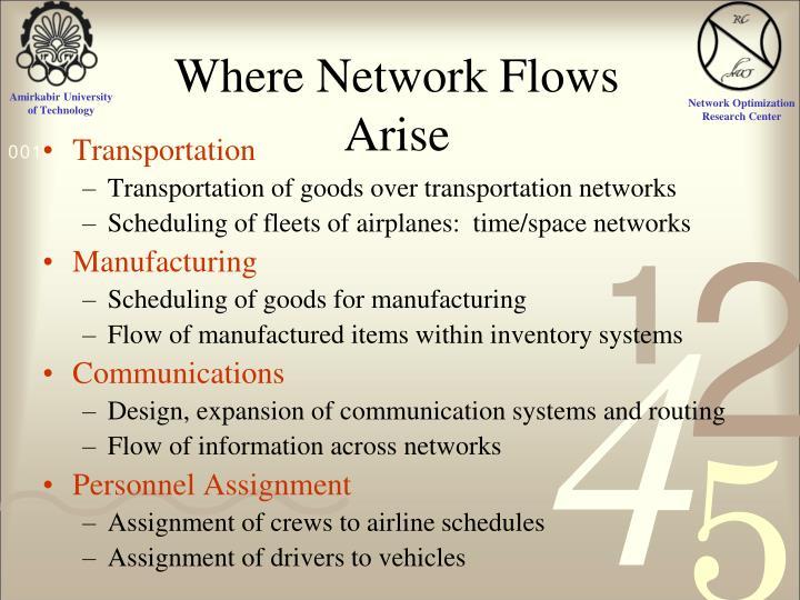 Where Network Flows Arise