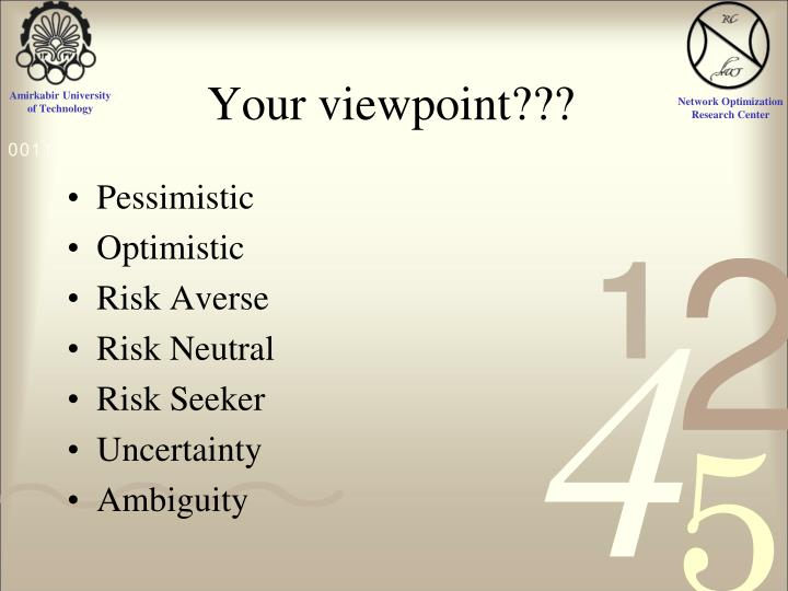 Your viewpoint???