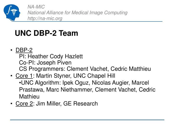 UNC DBP-2 Team