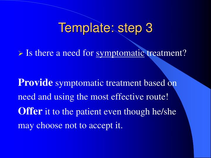 Template: step 3