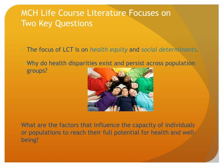 MCH Life Course Literature Focuses on