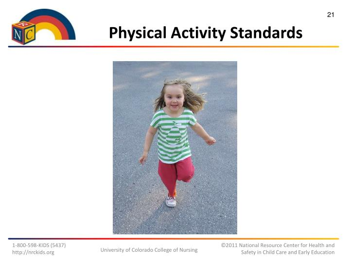 Physical Activity Standards