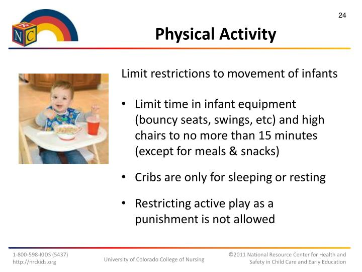 Limit restrictions to movement of infants