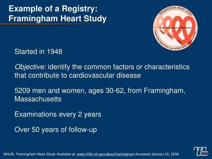 Example of a Registry: