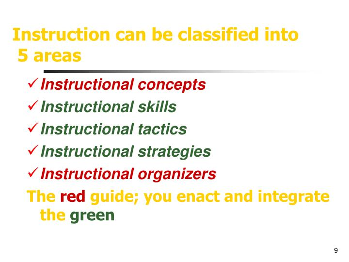 Instruction can be classified into