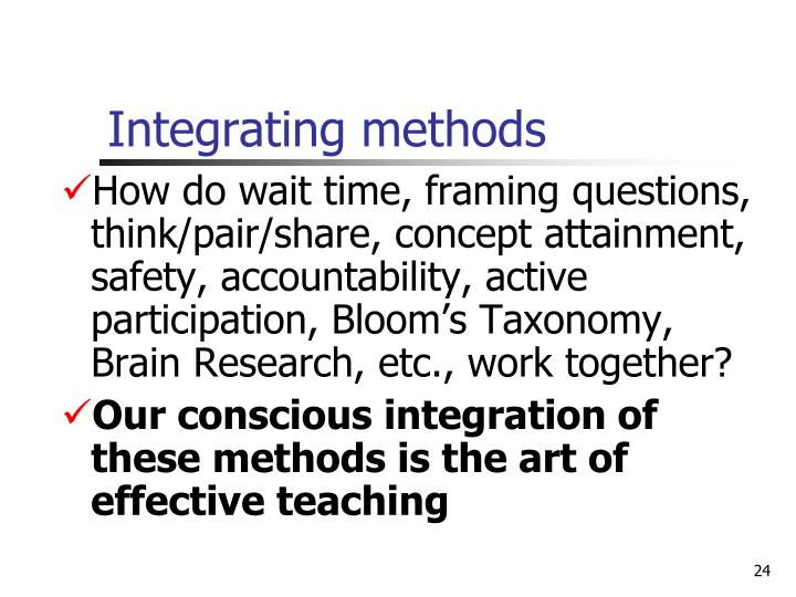 Integrating methods