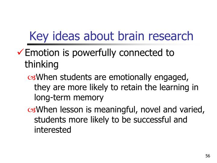 Key ideas about brain research