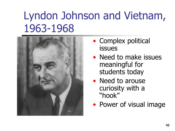 Lyndon Johnson and Vietnam, 1963-1968