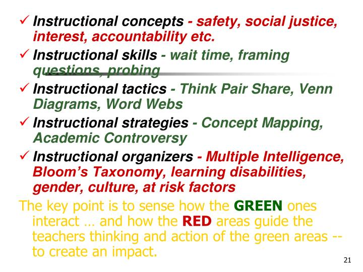 Instructional concepts