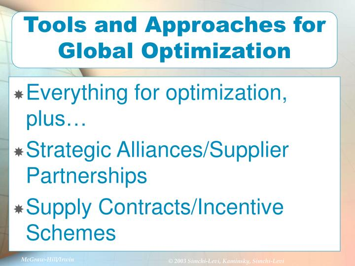 Tools and Approaches for Global Optimization