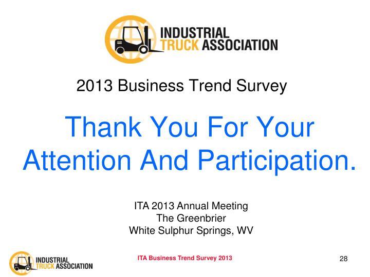 2013 Business Trend Survey