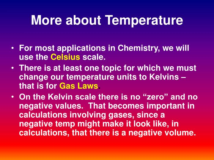 More about Temperature