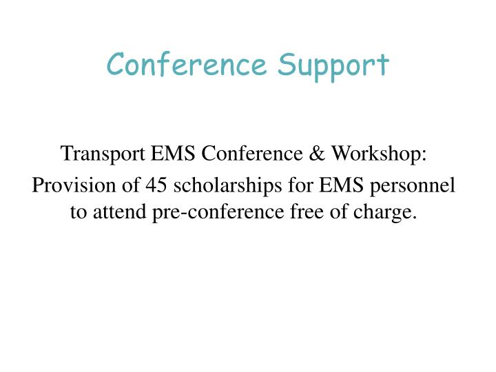Conference Support