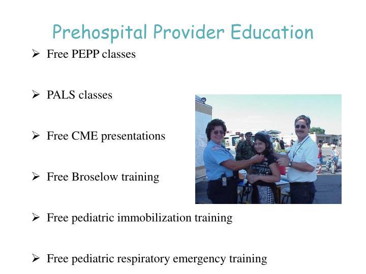 Prehospital Provider Education