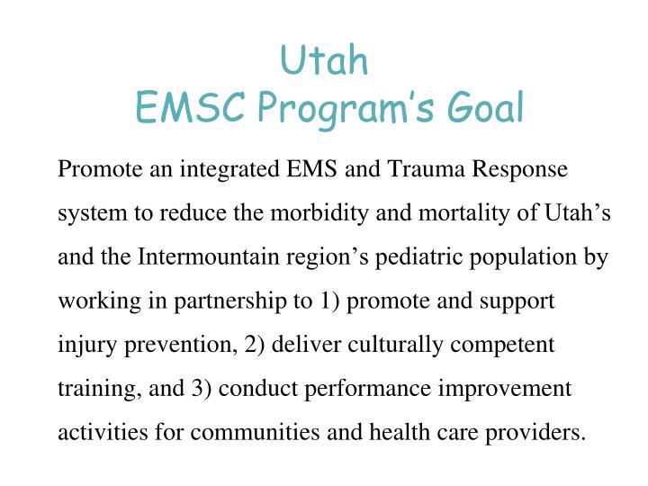 Utah emsc program s goal