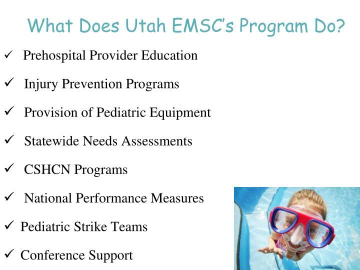 What Does Utah EMSC's Program Do?