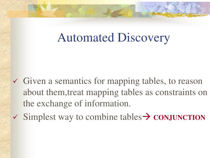 Automated Discovery