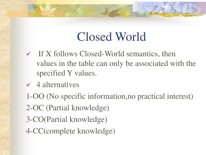 Closed World