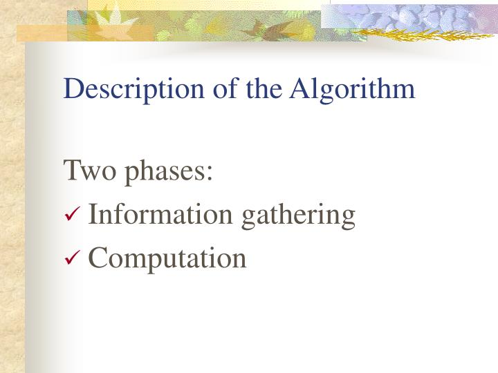 Description of the Algorithm
