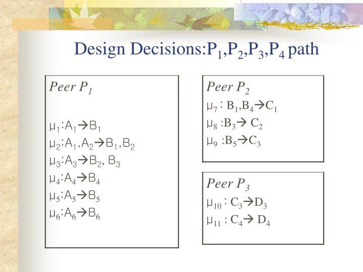 Design Decisions:P