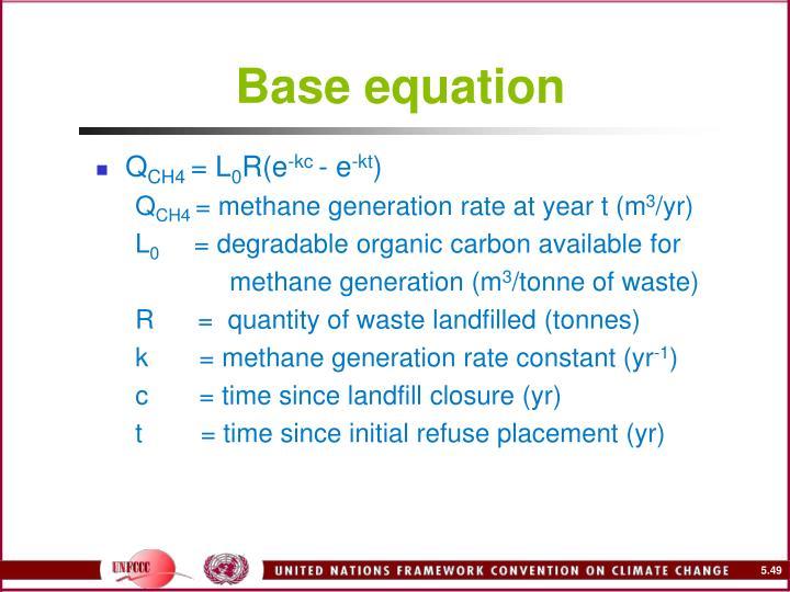 Base equation