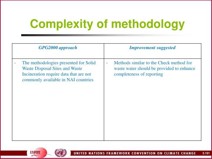 Complexity of methodology