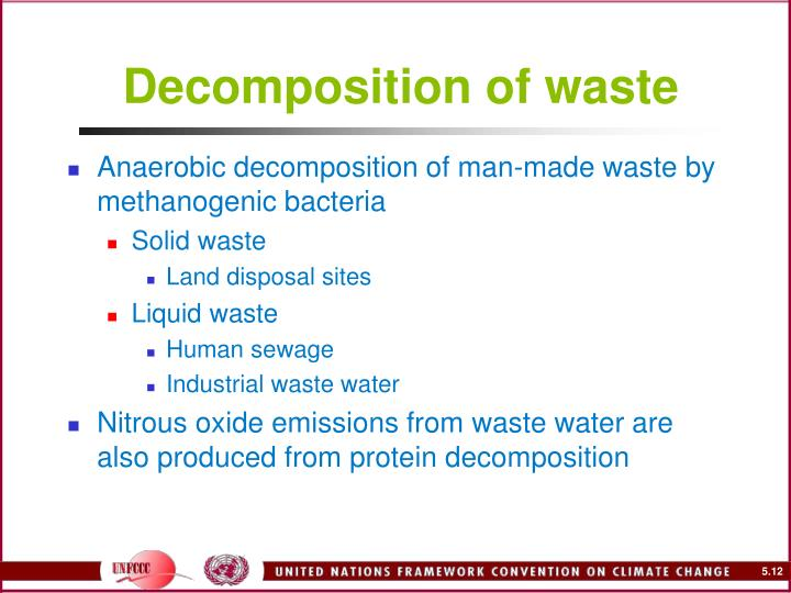 Decomposition of waste