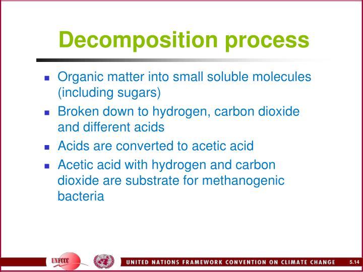 Decomposition process