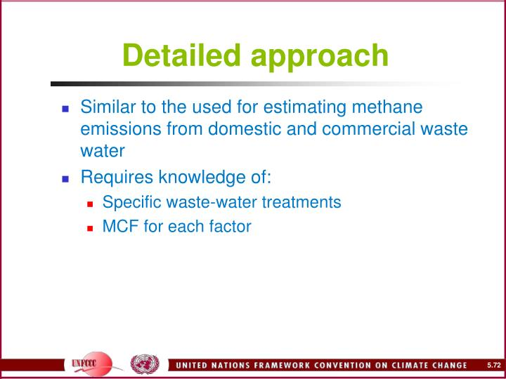 Detailed approach