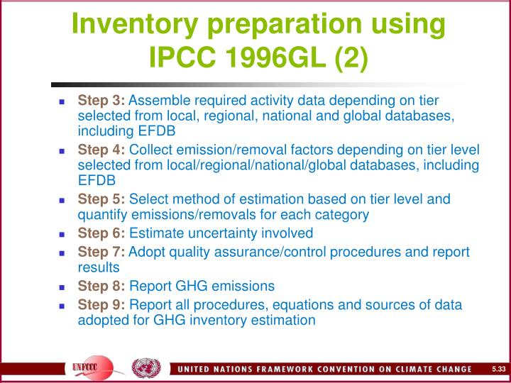 Inventory preparation using IPCC 1996GL (2)