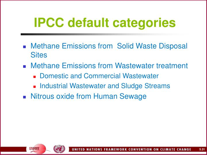 IPCC default categories