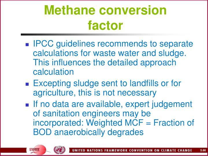 Methane conversion factor