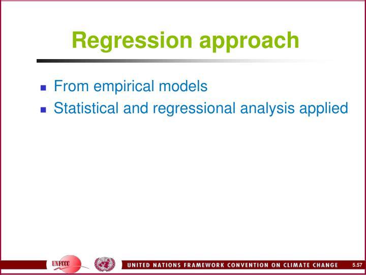 Regression approach