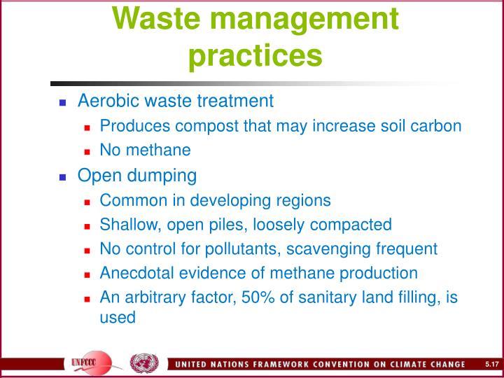 Waste management practices