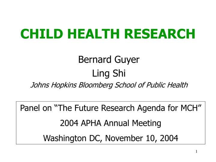 child health research n.
