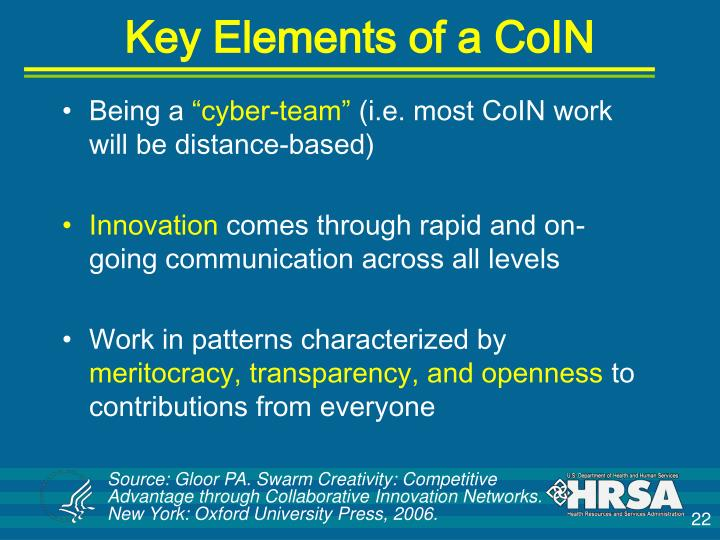 Key Elements of a CoIN