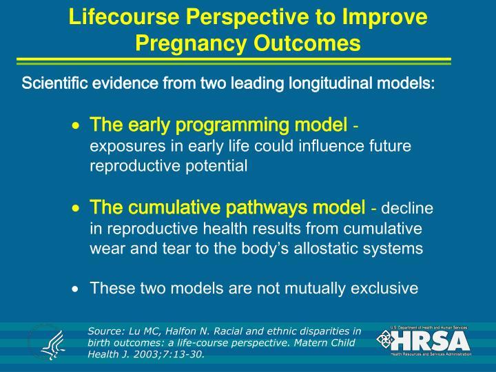 Lifecourse Perspective to Improve Pregnancy Outcomes