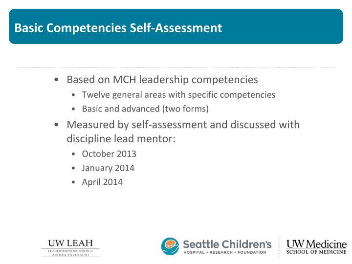 Basic Competencies Self-Assessment