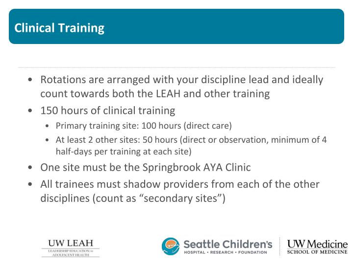 Clinical Training