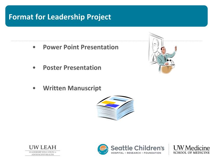 Format for Leadership Project