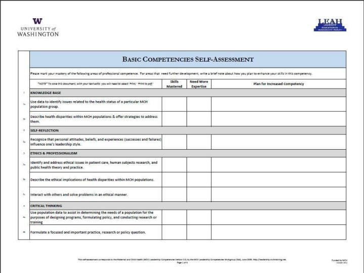 MCH Leadership Competencies