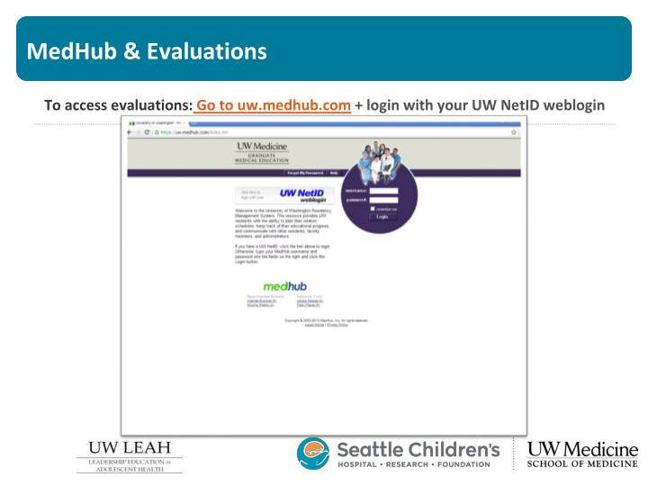 MedHub & Evaluations
