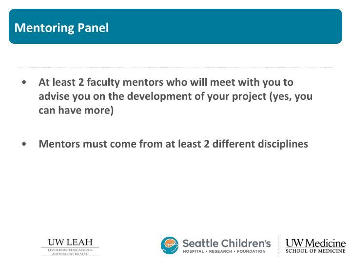 Mentoring Panel