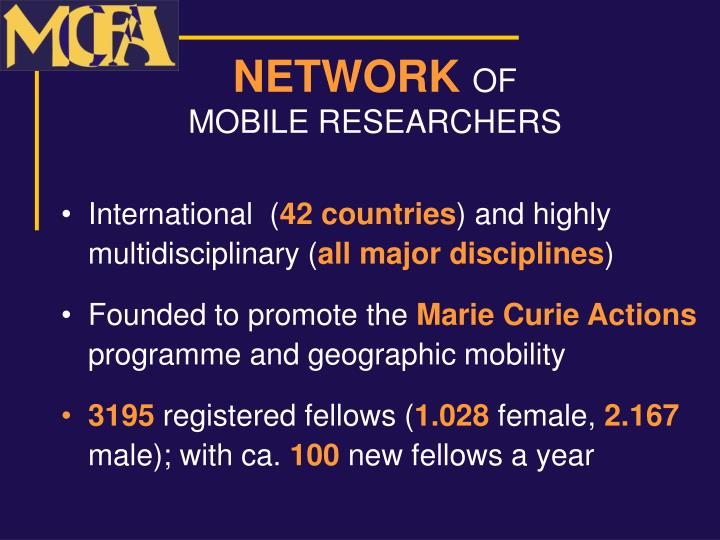 Network of mobile researchers