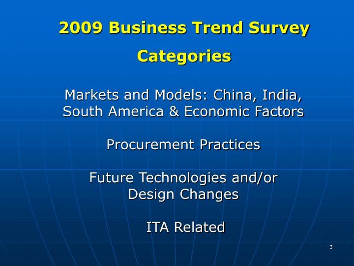 2009 Business Trend Survey