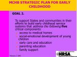 mchb strategic plan for early childhood1